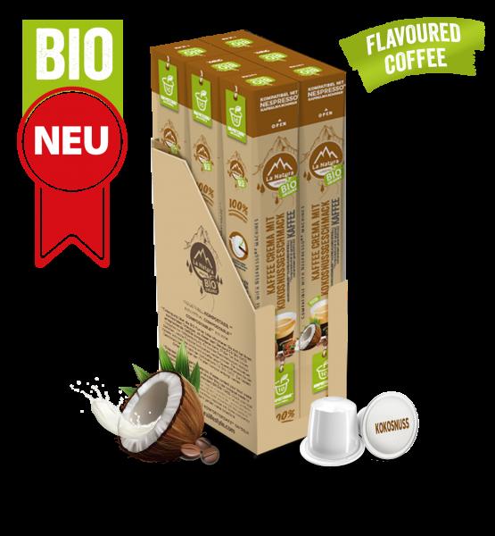 Crema BIO Kaffee Kokosnuss Natural Flavor - 60 Kapseln La Natura Lifestyle BAG