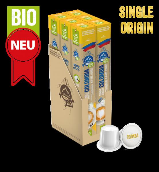 Colombia Plantagen Single Origin BIO Kaffee - 60 Kapseln La Natura Lifestyle