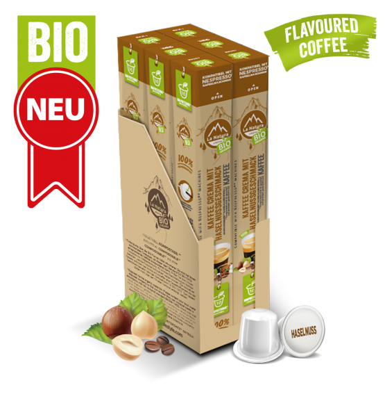 Crema BIO Kaffee Haselnuss Natural Flavor - 60 Kapseln La Natura Lifestyle BAG