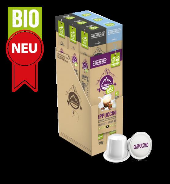 Cappuccino BIO Kaffee - Milch - 60 Kapseln La Natura Lifestyle