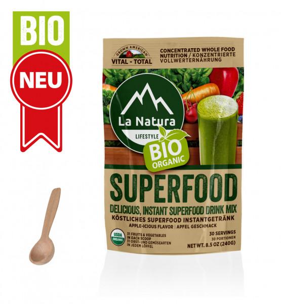 BIO Superfood mit 31 Obst-Gemüsearten + 1x Dosierlöffel La Natura Lifestyle BIO Vital