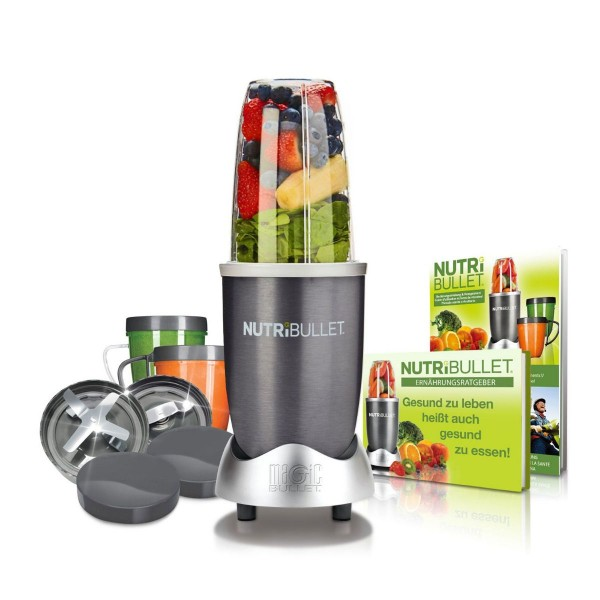 NutriBullet Extraktor 600W Basis-Set 12tlg. grau