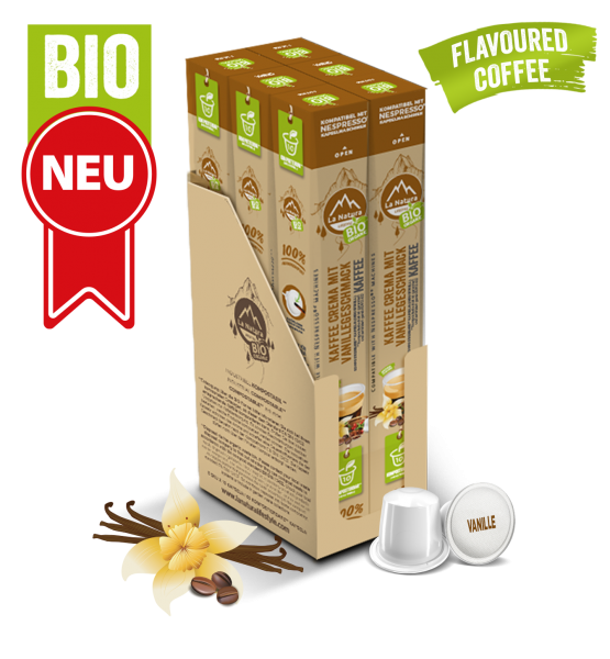 Crema BIO Kaffee Vanille Natural Flavor - 60 Kapseln La Natura Lifestyle BAG