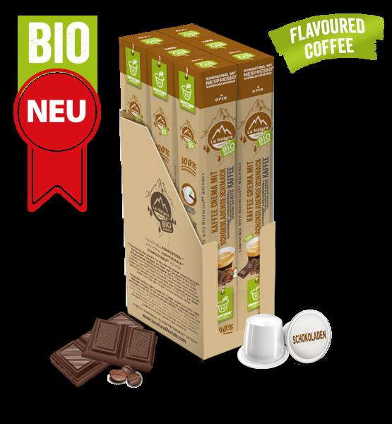 Crema BIO Kaffee Schokolade Natural Flavor - 60 Kapseln La Natura Lifestyle BAG