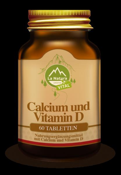 Calcium & Vitamin D3 Tabletten 60 Stück La Natura Lifestyle VITAL